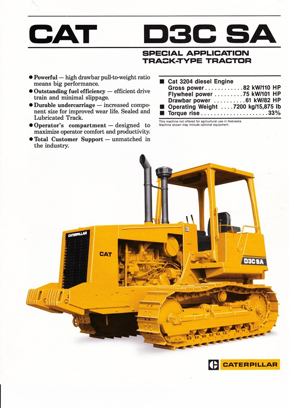 MINIMOVERS scalemodels - Caterpillar D3C SA Track-Type Tractor