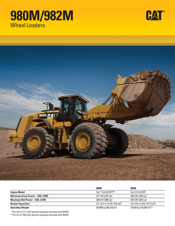 Cat 982m wheel loader specs - Vibe coin youtube to mp4 converter